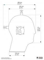 Binaural Microphone/Dimensions
